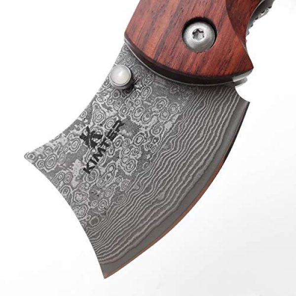 Kimter Folding Survival Knife 3 Kimter Handmade Mini Pocket Knife 4.13 Inch Rosewood Handle Tactical Knife with Liner Lock EDC for Camping Hunting Gifts/Collections