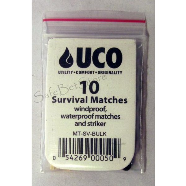 UCO Survival Fire Starter 2 UCO Survival Wind Waterproof Matches 10ct
