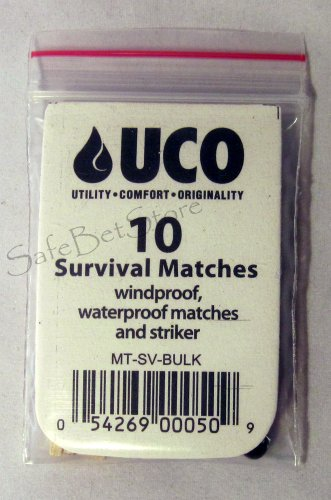 UCO  2 UCO Survival Wind Waterproof Matches 10ct