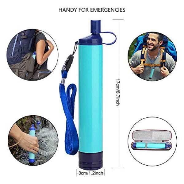Jak Survival Water Filter 4 Jak Personal Water Filter Straw Water Purifier,Portable Water Filtration Straw Outdoor Purifier Survival Gear Best Life Emergency Tool for Climbing,Sports,Backpacking,Hiking,Camping,Travelling