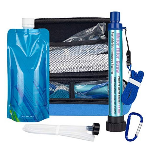 DOTSOG Survival Water Filter 6 DOTSOG Personal Water Filter Straw BPA Free with 2000L 4-Stage,Portable Water Purifier Lightweight for Hiking Camping Survival Outdoor Backpacking Traveling Emergencywith case