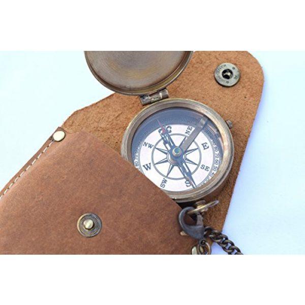 NEOVIVID Survival Compass 2 NEOVIVID Brass Pocket Compass, Engravable Compass, Camping Compass, Hiking Compass, Wedding Gifts