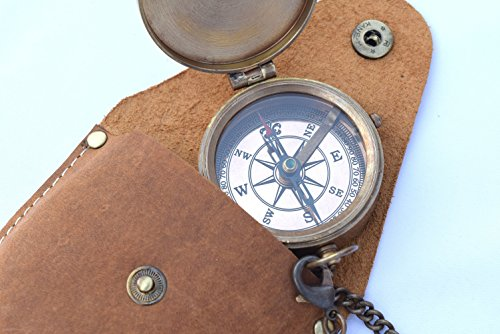 NEOVIVID Survival Compass 2 NEOVIVID Brass Pocket Compass, Engravable Compass, Camping Compass, Hiking Compass, Wedding Gifts