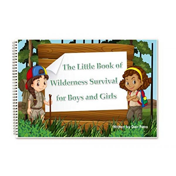 EZ Survival Kit 6 EZ Outdoor Adventure Kit for Boys and Girls The Little Book of Wilderness Survival, Waterproof Box, Multi-Functional Tool, Magnifying Lens, Paracord Bracelet with Compass, Whistle, Flashlight, Hook
