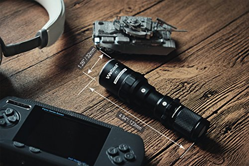 Weltool  3 Weltool T7 AA Compact Tactical Flashlight Long Throw IP67 Waterproof 659ft Powered by 14500 AA Battery Impact-Resistant for Hunting Remington 870