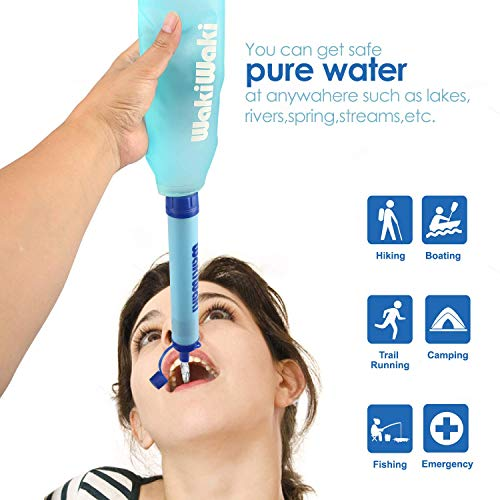 Membrane Solutions  2 Membrane Solutions Water Bottle with Straw