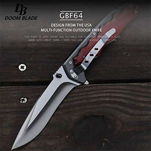 Tuzech  3 Tuzech 5Cr15MoV Blade Folding Knife Cs Go Wooden Handle Top Knifes FACA Tactical Hunting Survival Knives Camping Tool