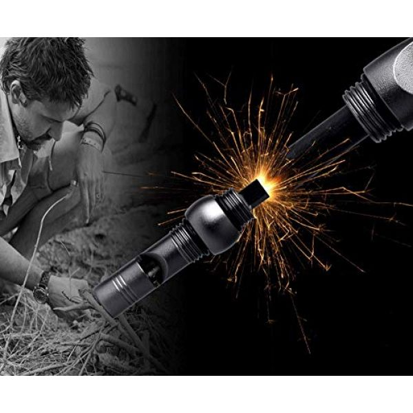 Kakamono Survival Fire Starter 3 Kakamono Magnesium Fire Starter Survival Kit with Waterproof Flint Rod, EDC Tool with Hard Tungsten Carbide Striker Glass Breaker and Survival Whistle 3 in 1 Outdoor Survival Tool for Camping