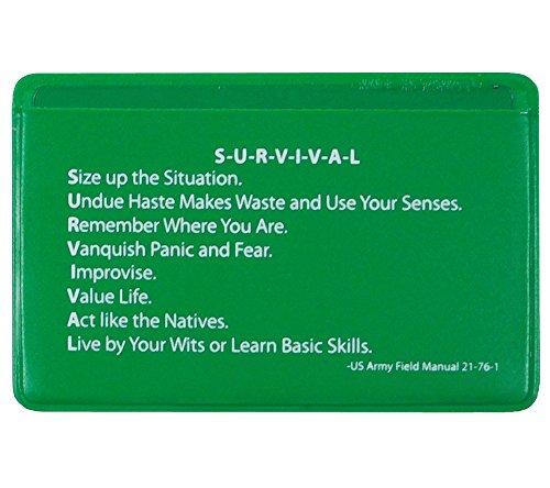 5col Survival Supply  4 5col Survival Supply Fresnel Lens 4-Pack Credit Card Size Pocket Magnifier & Firestarter