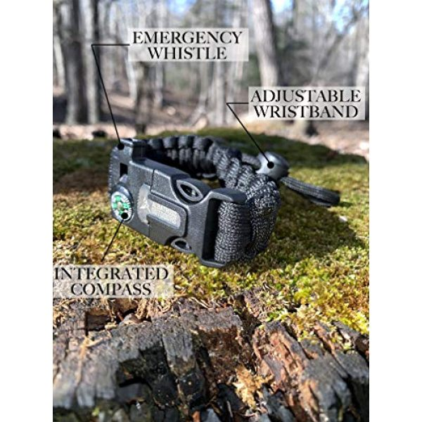 Albatross Outdoors Survival Paracord Bracelet 4 Albatross Outdoors Paracord Survival Bracelet |Set of 2| - Fully Adjustable in Size - Integrated Compass, Fire Starter and Scraper, Emergency Whistle. Perfect for Camping, Hunting, Bushcraft, and EDC