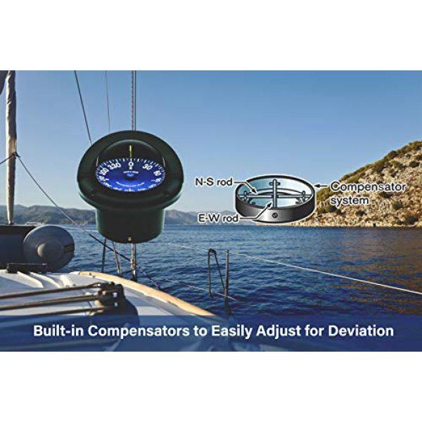 """Ritchie Navigation Survival Compass 5 Compass, Flush Mount, 4.5"""" Dial, Black"""