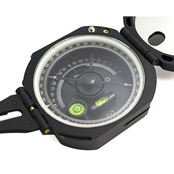 Funtalker Survival Compass 2 Funtalker Multi-Function Pocket Compass for Surveyors Foresters Lightweight and Durable - Green