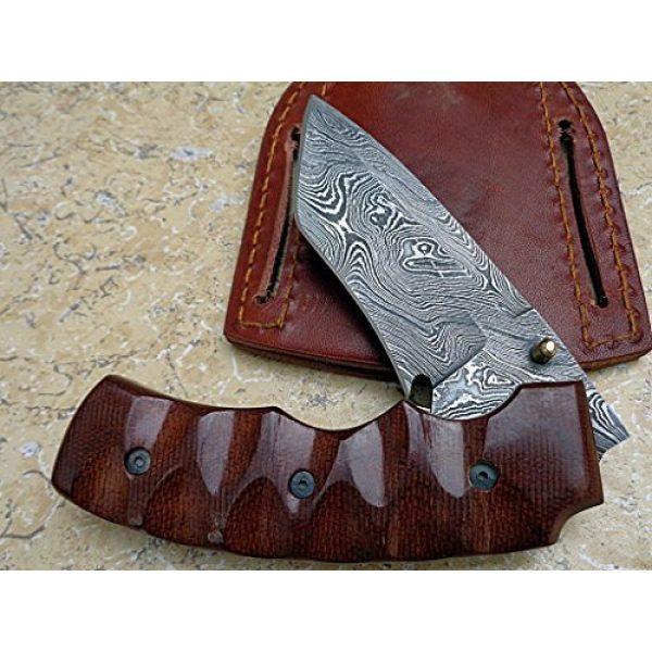 Knife King Premium Folding Survival Knife 2 Knife King Premium Custom Damascus Handmade Folding Knife. Linerlock. Comes with a Sheath.