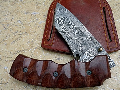 Knife King Premium  2 Knife King Premium Custom Damascus Handmade Folding Knife. Linerlock. Comes with a Sheath.