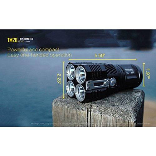 Nitecore  4 Nitecore TM28 Tiny Monster 6000 Lumen QuadRay Rechargeable Flashlight