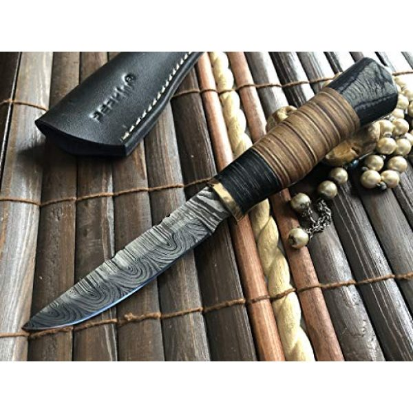 Perkin Fixed Blade Survival Knife 4 Perkin Handmade Knife Damascus Steel Hunting Knife with Sheath SK1900 Fix Blade Knife