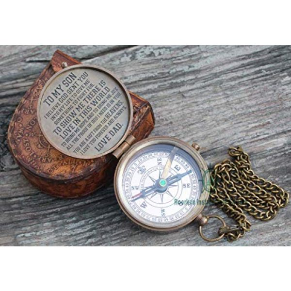 Roorkee Instruments India Survival Compass 2 ROORKEE INSTRUMENTS (INDIA) A NAUTICAL REPRODUCTION HOUSE to My Son Compass/Father to Son Gifts/Mother to Son Gift/Inspirational Gift to Son