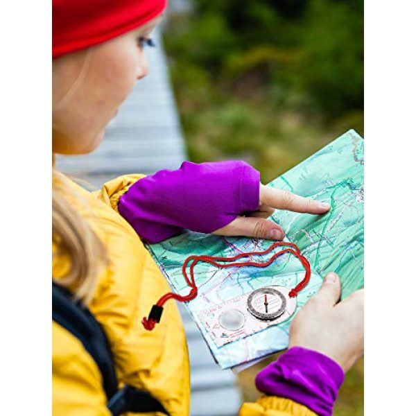 Gejoy Survival Compass 5 Gejoy 6 Pieces Navigation Backpacking Compass Orienteering Hiking Compass Adjustable Map Reading Compass for Boy Scout Kids Outdoor Camping (Style 2)