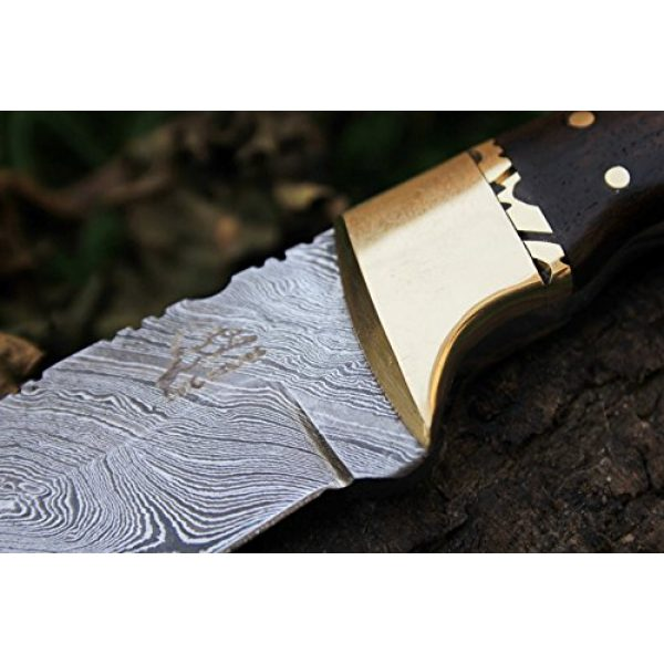 """DKC Knives Fixed Blade Survival Knife 7 15 4/4/18 Sale DKC-523 Gold Finch Damascus Hunting Handmade Knife Fixed Blade 9oz oz 8""""Long 3.75"""" Blade"""