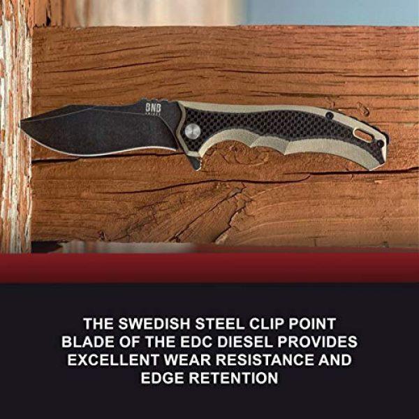 BUCKNBEAR KNIVES Fixed Blade Survival Knife 6 Buck n Bear EDC Diesel Pocket Knife, 3.6 Inch Blade, G10 Handle