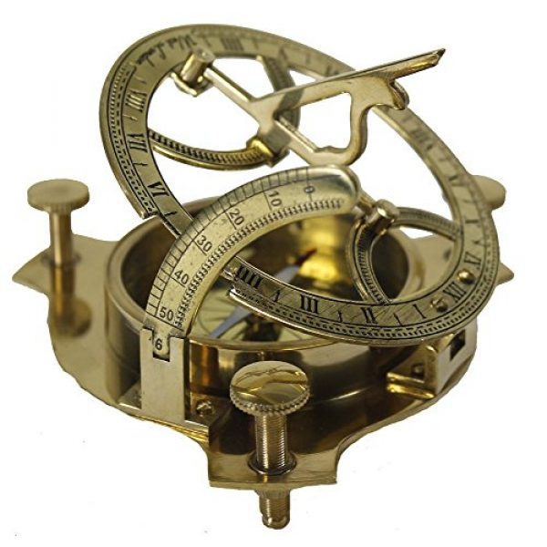 Zap Impex Survival Compass 2 Zap Impex Sundial Compass-Brass Metal Compass Sundial (Size- 3 Inch)