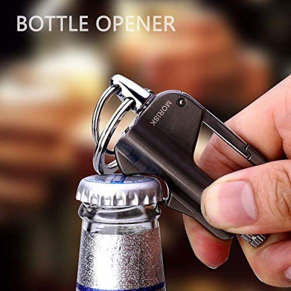 Morisk Survival Fire Starter 3 Morisk 2 Pack Permanent Match Keychain with Bottle Opener, Waterproof Flint Fire Starter Refillable Survival Lighter, EDC Key Chain Firestarter/Forever Matches for Outdoor Emergency, Cool Mens Gift