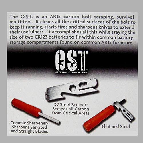 Operator Survival Tool Survival Fire Starter 6 O.S.T. - Operator Survival Tool O.S.T. - gun cleaning tool, carbon scraper, fire starter, knife sharpener