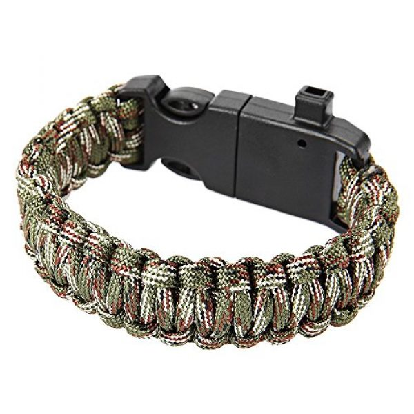 Wsobue Survival Paracord Bracelet 3 Paracord Bracelet, Outdoor Survival Gear Fire Starter Whistle Compass Emergency Knife, Perfect for Hiking Camping Fishing and Hunting
