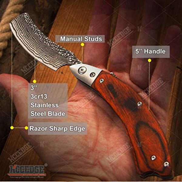 KCCEDGE BEST CUTLERY SOURCE Folding Survival Knife 2 KCCEDGE BEST CUTLERY SOURCE EDC Pocket Knife Camping Accessories Razor Sharp Edge Folding Knife Camping Gear Survival Kit 57864
