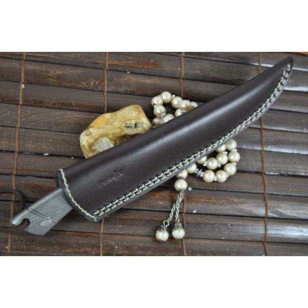Perkin Fixed Blade Survival Knife 5 Perkin - Beautiful Custom Handmade - Camping Knife with Sheath