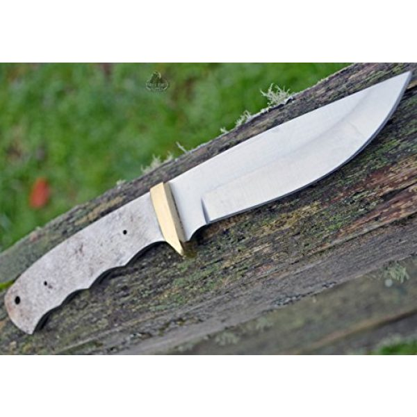 Whole Earth Supply Fixed Blade Survival Knife 3 Whole Earth Supply (Set of 2) Drop Point Knives Knife Blades Blanks Hunting Blank Blade Hunter Making Parts BL7702