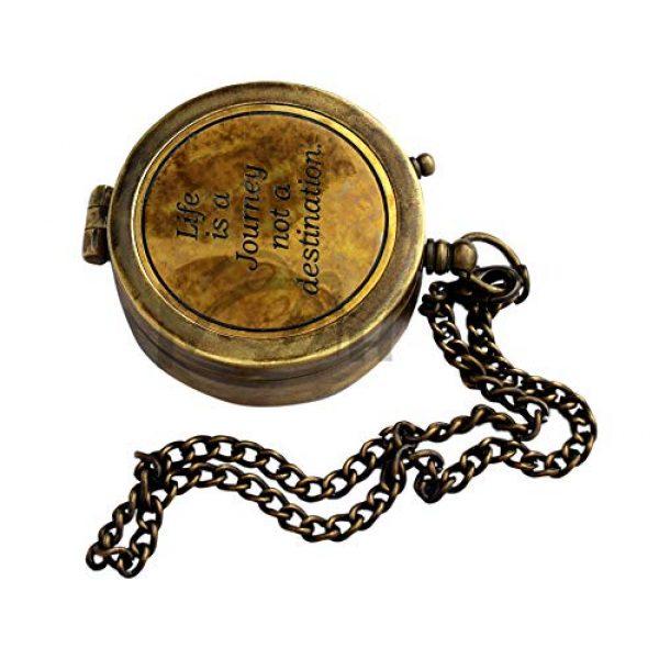 MAH Survival Compass 2 MAH Life is A Journey Not A Destination Vintage Antique Look Solid Brass Compass Maritime Compass. C-3275