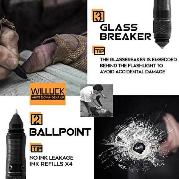 WILLUCK Survival Flashlight 4 Gifts for Dad Men Husband,Tactical Pen,LED Tactical Flashlight,Cool & Unique Anniversary Birthday Gifts Ideas For Him Boyfriend,Gift Box(2020 UPGRADE)