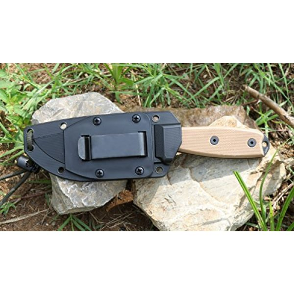 ESEE Fixed Blade Survival Knife 4 ESEE Knives 4P Fixed Blade Knife w/Handle and Molded Polymer Sheath