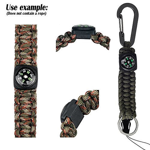 REVEW Survival Compass 5 REVEW 20PCS Button Compass Mini Compass for Paracord Bracelet Liquid Filled Compass for Emergency Survival Watch Band Paracord Bracelet Watchband Paracord Bracelets