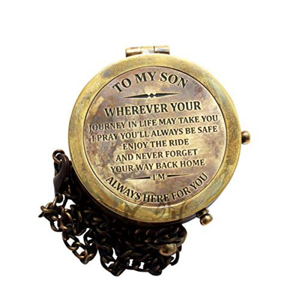 MAH Survival Compass 4 MAH to My Son Camping Compass Engraved with Gift Compass. C-3119
