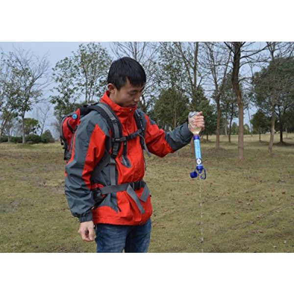 UPD Survival Survival Water Filter 2 UPD Survival Water Filter Straw - Small Portable Reusable Purifier with Charcoal Filtration System - Preppers' Best Life Emergency Tool for Bugout Bags Sports and Outdoor Camping