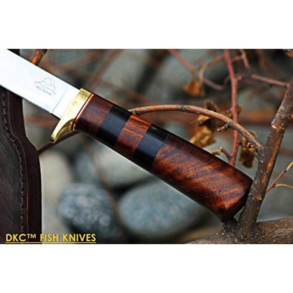 "DKC Knives Fixed Blade Survival Knife 3 (4 9/18) Sale DKC-610 Sale Black Doucette Fishing Filet Knife Mirror Finish Steel Blade Hunting Handmade Knife Fixed Blade 5.9 oz 11"" Long 6"" Blade"