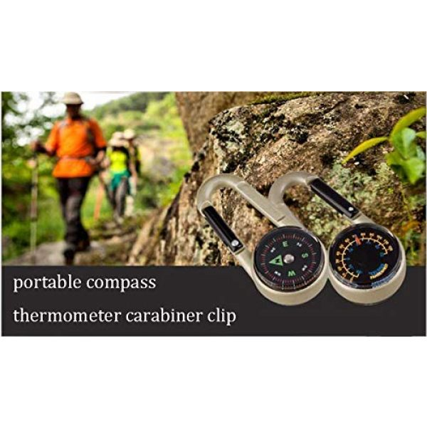 Acme Approved Survival Compass 3 Acme Approved Compass and Thermometer Carabiner for Hiking Backpacking, Traveling, Keychain, and Camping Accessory-Small Pocket Size Survival Tool for Outdoor Activities.