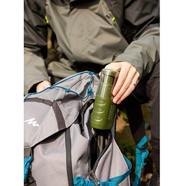 joypur Survival Water Filter 7 joypur Portable Outdoor Water Purifier Camping 0.01 Micron Emergency Backpacking Water Filter for Hiking with 3-Stage Filter Pump