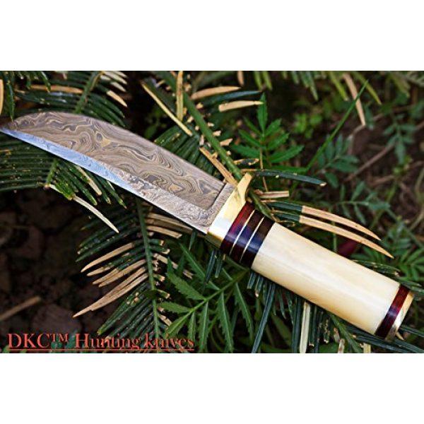 "DKC Knives Fixed Blade Survival Knife 5 DKC Knives (14 5/18) SALE DKC-30 ALASKA Damascus Steel Hunting Bowie Knife 10.5"" Long 5"" Blade 8oz"