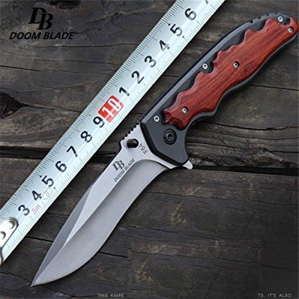 Tuzech Folding Survival Knife 5 Tuzech 5Cr15MoV Blade Folding Knife Cs Go Wooden Handle Top Knifes FACA Tactical Hunting Survival Knives Camping Tool