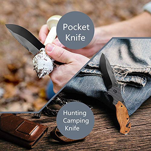 Unilove  4 Unilove Folding Knife Pocket Knife Outdoor Survival Knife Tactical Knife with Sheath for Camping Hunting Survival and Outdoor