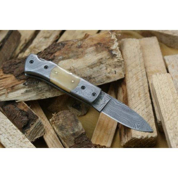 Knife King Fixed Blade Survival Knife 2 Knife King Custom Damascus Handmade Folding Knife. with Leather Sheath