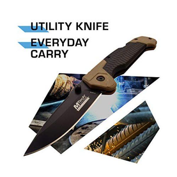MTECH USA EVOLUTION Folding Survival Knife 2 MTech Evolution Folding Knife - MTE-FDR015-TN