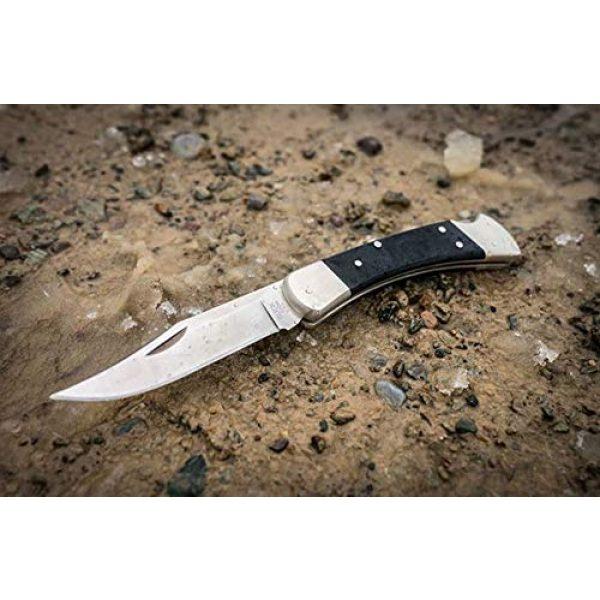 Buck Knives Folding Survival Knife 6 Buck Knives 0110BKSNS1 Folding Hunter Pro Folding Hunting Knife with Genuine Leather Sheath, Black