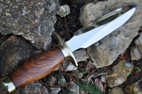 Perkin  5 Perkin Handcrafted Hunting Knife - 440c Steel - Double Edge - Amazing Value Limited Time Offer