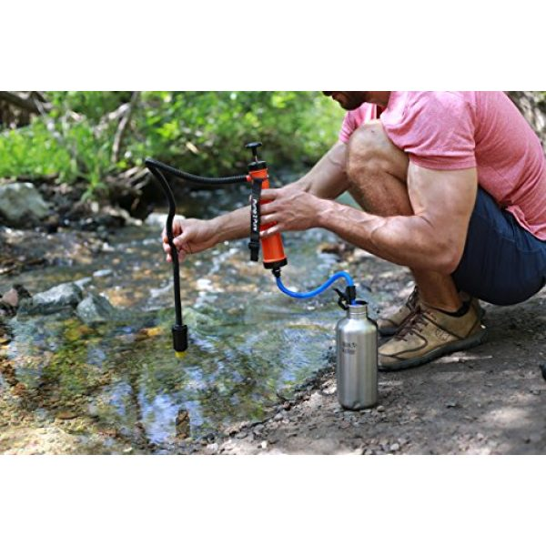 Seychelle Survival Water Filter 5 Seychelle Portable Water Filter Camping Pump - Outdoors, Hiking, Travel, Emergency Preparedness - Removes Bacteria, Viruses, Radiological Contaminants - Large Size