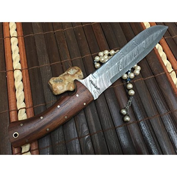 Perkin Fixed Blade Survival Knife 2 Perkin Knives - Custom Handmade Damascus Hunting Knife - Beautiful Bowie Knife