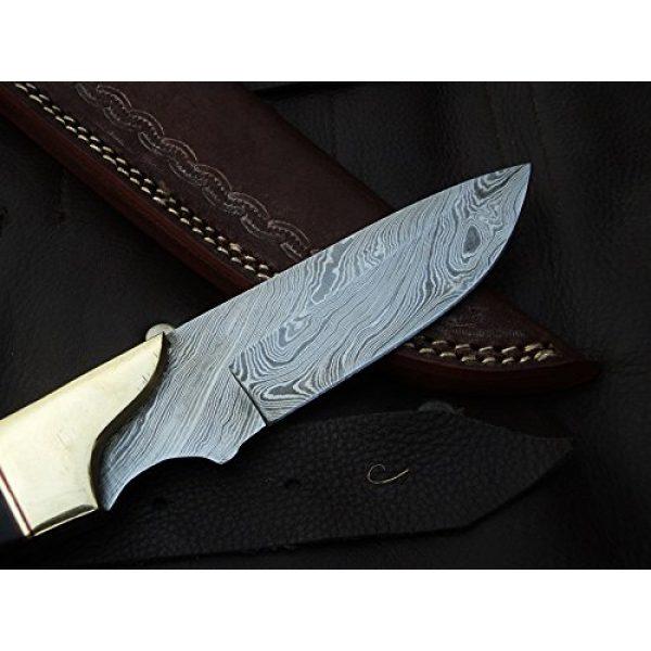 "DKC Knives Fixed Blade Survival Knife 3 DKC Knives (9 7/18) Sale DKC-714 Black Widow Damascus Steel Hunting Handmade Knife Fixed Blade 8.5 oz 9"" Long 4"" Blade"